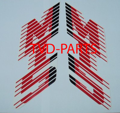 Tank sticker Honda MT white/red (red tank) B-quality
