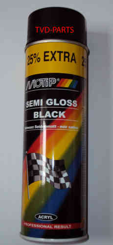 Motip semi gloss black 500ml