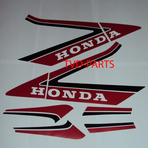 Sticker set 8-delig honda MB rood