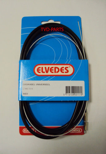 Cable throttle universal Elvedes 2 metres