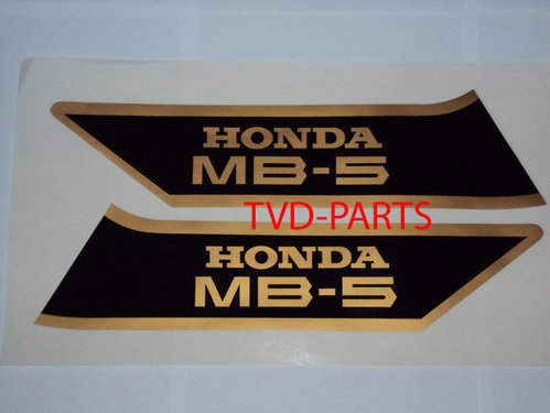 Tank sticker set MB5 zwart/goud