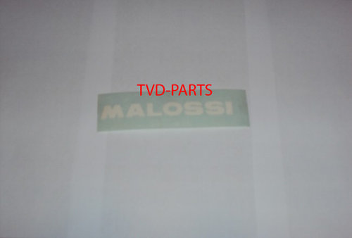 Sticker Malossi wit 16cm