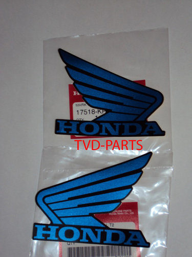 Stickerset Honda wings blauw Honda MB MT MTX NSR MBX (103x83 mm)