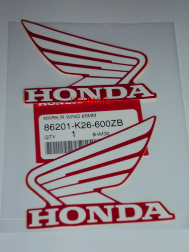 Honda wing set 85mm red/white
