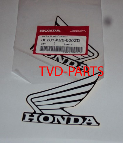 Honda vleugel wings set zwart/wit +/- 85mm