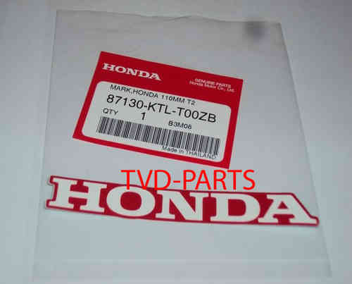 Sticker Honda donker rood wit 110mm Honda MB MT MTX NSR MBX