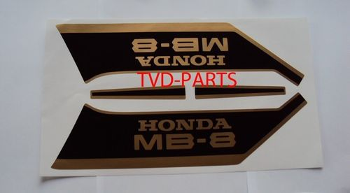 Tank sticker set MB8 MB80 zwart/goud