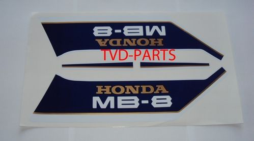 Tank sticker set Honda MB8 MB80 blauw/wit