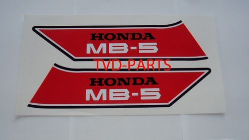 Tank sticker set Honda MB MB5 rood/wit