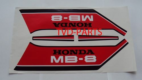 Tank sticker set MB8 MB80 MB rood/wit