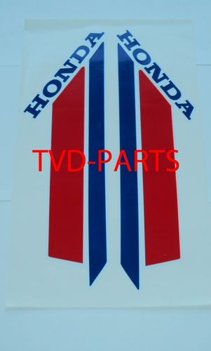 Fuel tank sticker Honda MT 1979-1983 white r/w/b