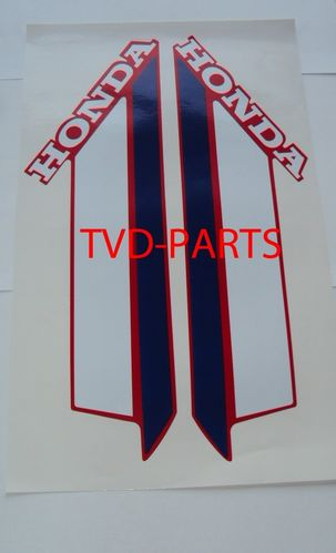 Tank sticker set Honda MT 1979-1983 rood w/b