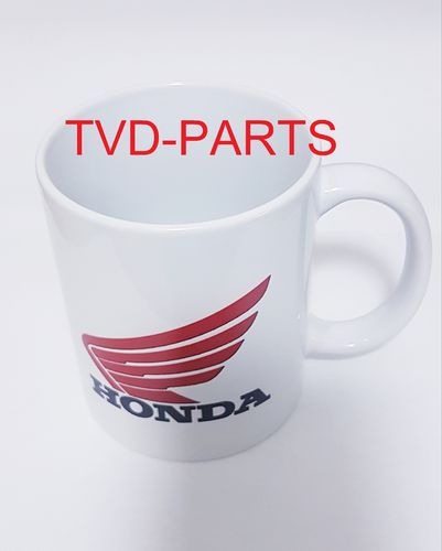Coffee cup with Honda print